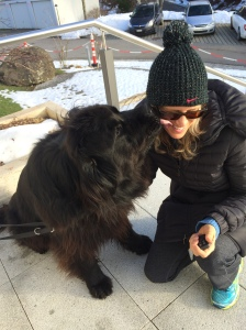"I was so happy for my mom to make a new ""Newfoundland"" friend- because between my pain and fatigue I can't imagine I'm enjoyable company. It was hard to tell who loved whom more!"