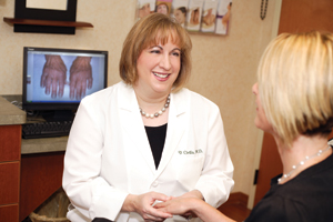 Dr. Vicki Cirillo, a close family friend and brilliant dermatologist