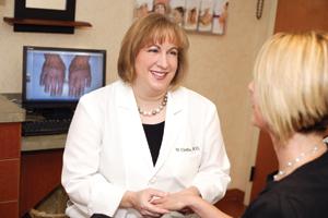 Dr. Vicki Cirillo, a close family friend and brilliant dermatologist