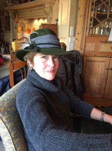 "Margie arrived at our house in her very best ""Swiss"" hat. Fashionable and fabulous as ever!"