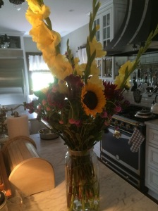 The sunflowers Mama Guibert brought me immediately reminded me of an old friend, now an angel, Alex Bilotti.